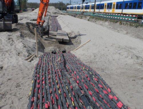 19000 meter delbara kabelskyddsrör till järnvägsprojekt i Holland