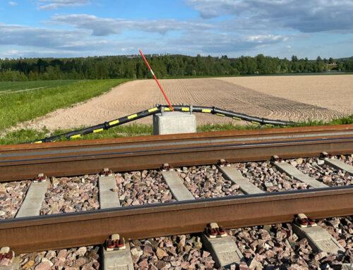 2300 m delbart kabelskyddsrör SRS till svenskt järnvägsprojekt