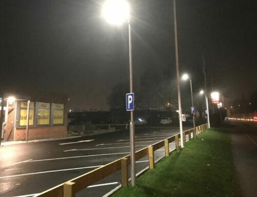 Gatljusfundament till parkering i Växjö
