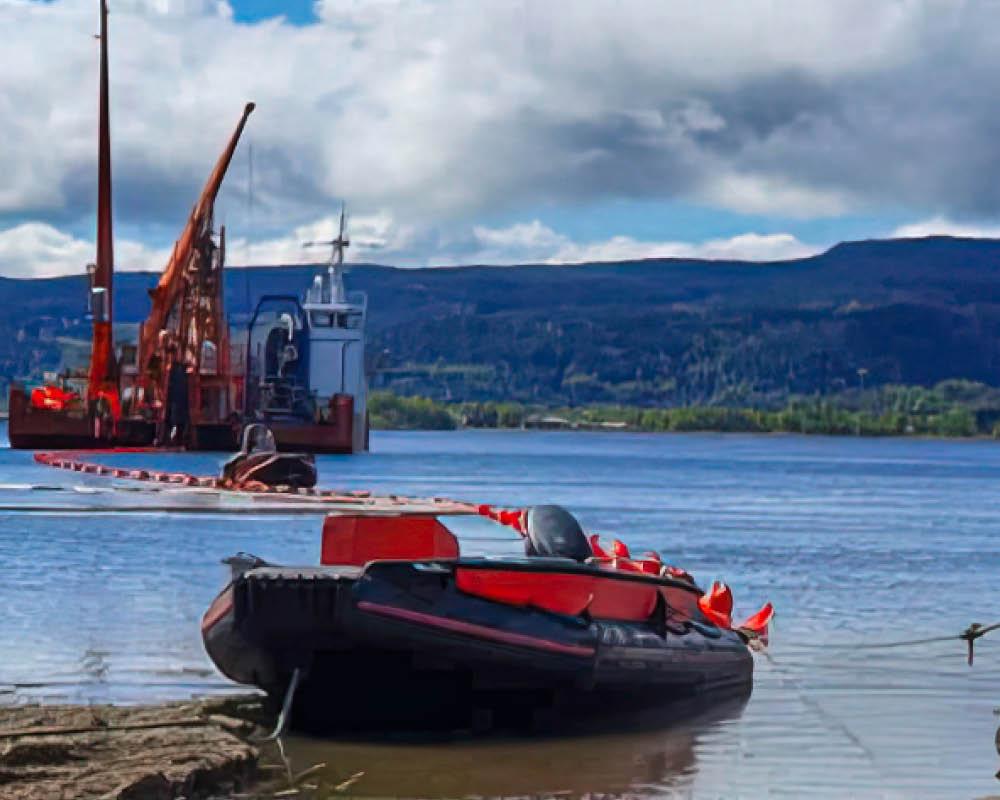 Bild från sjökabelprojekt med skyddsrören Snipp & Snapp Panzar