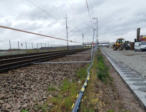 Delbara kabelskyddsrör järnvägsprojekt Flackarp – Arlöv