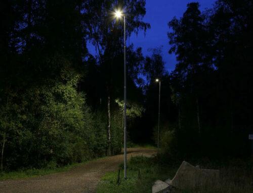 Fundament till belysning vid elljusspår, Borås