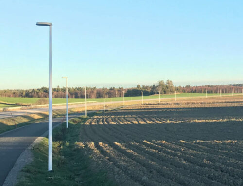 Fundament till belysning cykelbana, Knivsta