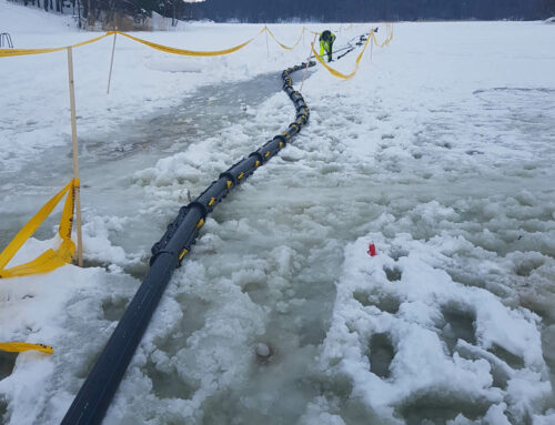 Snipp & Snapp® SRE-P Panzar förlagd över is i Stockholms skärgård